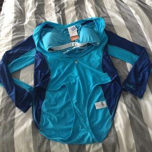 NWT 3-piece beach set- swimsuit, top, pants 3X UV